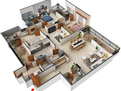3 Bhk Apartment Flat For Sale In Central Park Resorts Sector 48 Gurgaon 2350 Sq Ft 10th Floor Out Of 17