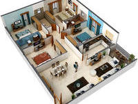 4 BHK, Residential Apartment in E M Bypass
