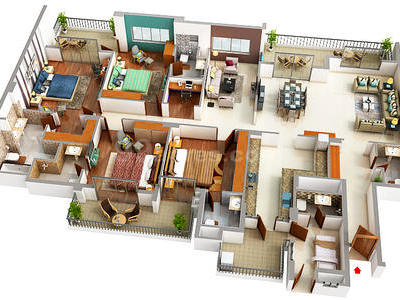 4 Bhk Apartment Flat For Sale In Central Park Resort Belgravia