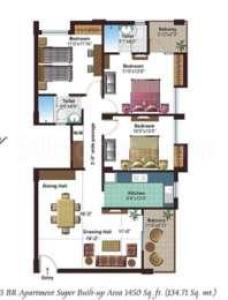 3 Bhk Apartment Flat For Sale In Ashiana Aangan Alwar Bypass Road Bhiwadi 1520 Sq Ft 9th Floor Out Of 15