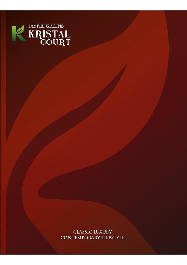Jaypee Greens Kristal Court Brochure